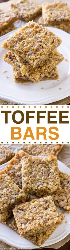 Toffee Bars- these taste delicious and are SO EASY to make!
