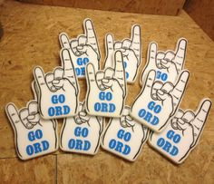 Foam fingers for the ORD team? Here's a link to a place that makes custom foam hands: http://www.discountfavors.com/custom-foam-hands.html