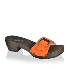 SOFTCLOX Jolina Kaleido Papaya #summer #summershoes #spring #springshoes #softclox #clogs #woddensole #wood #goatvelours #shoes