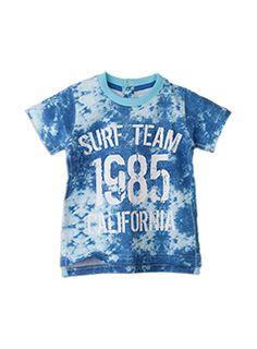 Pumpkin Patch Baby Boys Stripe Printed Double Long Sleeve T-Shirt Ocean Blue