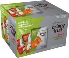 Crispy Green 100% Freeze-Dried Fruits, Fruit Variety Pack, 16 Count, 5.6 Ounce