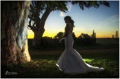 Beautiful Bride at Sunset