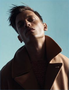 Eddie Klint is Striking in Winter Fashions for Kinfolk Cover Shoot