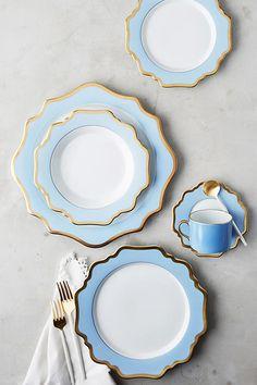 Anna Weatherley Anna's Palette Sky Blue Six-Piece Place Setting