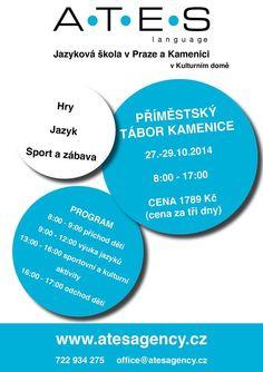 Máte v okolí dítka školou povinná? Řekněte jim o našem příměstském táboře v Kamenici na konci října, ať si užijí zábavu spojenou s výukou angličtiny.