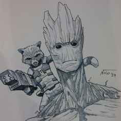 Rocket and Groot by nselma.deviantart.com on @deviantART