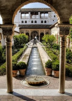 Alhambra Palace, Granada. Beautiful beautiful place!                                                                                                                                                     More