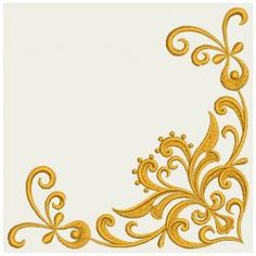 Heart Floral Damask Corner 03(Lg) machine embroidery designs