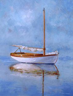 bote, pintura en acrilico
