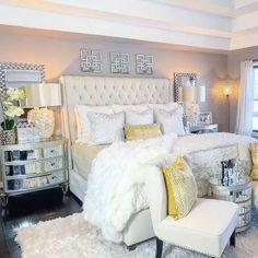 Glam Bedroom, Home Decor Bedroom, Bedroom Ideas, Interior Design Career, Luxury Bedroom Design, Master Bedroom Makeover, Dream Rooms, Luxurious Bedrooms, My New Room
