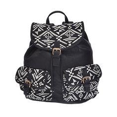 By eLUXE Aztec Buckle Backpack ❤ liked on Polyvore featuring bags, backpacks, backpack, aztec bag, knapsack bags, aztec print bag, backpacks bags and rucksack bag