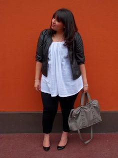ankle-length skinnies on a bigger girl...done right