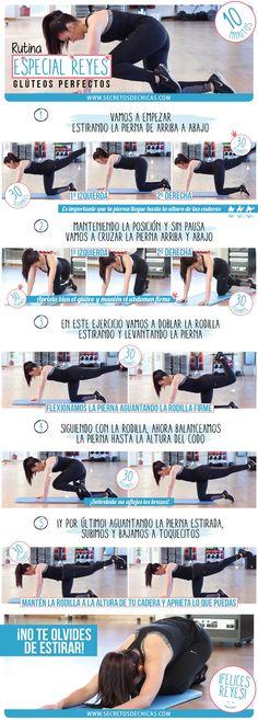 Rutina de ejercicios glúteos perfectos especial Reyes