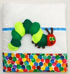 Soft Quiet Book Pattern (PDF) - The Very Hungry Caterpillar by CaterpillarShop on Etsy https://www.etsy.com/listing/167233712/soft-quiet-book-pattern-pdf-the-very
