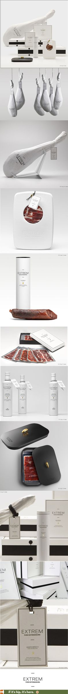 The finest Iberian ham products from Spain's EXTREM brand are packaged and marketed as if it were jewelry.