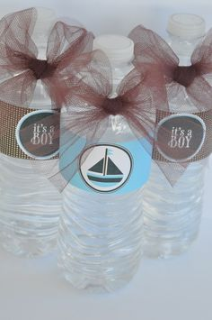 Oh Boy Baby Shower Water Bottle Labels PRINTABLE by lovetheday, $8.00