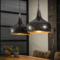 Hanglamp in oudzilver Suspension Bar, Suspension Vintage, Drop Lights, Hanging Lights, Pendant Lamp, Pendant Lighting, Deco Baroque, Futuristic Interior, Dining Room Design
