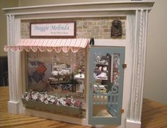 Miniature shop awnings by janetharvie on Etsy, $20.00