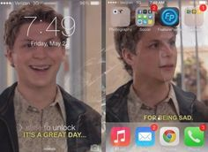 """These wonderful lock and background screens. 