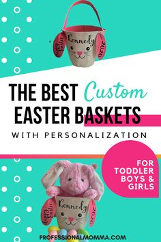 Looking for Easter Basket and gift Ideas for your toddler or preschooler? My parenting tip: try this simple yet unique option that's inexpensive and personalized. My 2 year old loves it! Custom Easter Baskets, Easter Baskets For Toddlers, Easter Specials, Non Toy Gifts, Thing 1, Happy Words, Family Organizer, Kids Sleep, Kids Church
