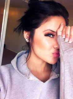 Those days when your makeup is perfect but you're too lazy to get dressed up lol