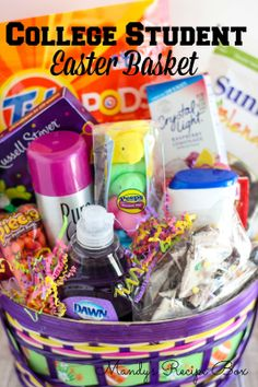 Easter basket ideas for college students basket ideas easter college student easter basket negle