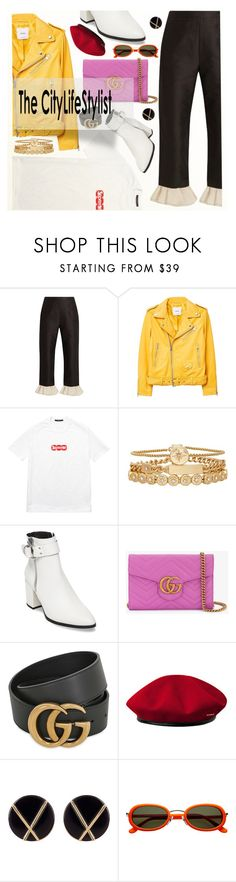 """city life"" by jasmimbonlevour ❤ liked on Polyvore featuring Isa Arfen, MANGO, Louis Vuitton, Treasure & Bond, Steve Madden, Gucci, kangol and Botkier"