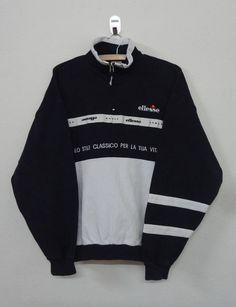 Rare!! Vintage Trefoil Big Logo Big Spellout Multicolor Half Zipper Pullover Jumper Sweatshirt xGFDNDK