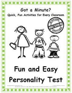 Breathtaking image pertaining to personality test for kids printable