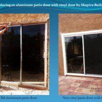 Replacement of aluminum patio door with vinyl door