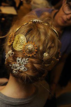Dolce & Gabbana Women's SS14 Fashion Show Backstage