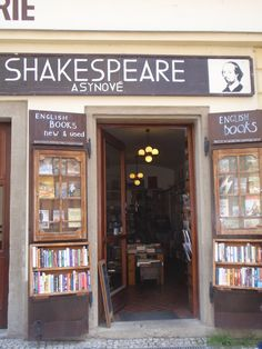 Shakespeare and Son (Czech Republic): most lovely shop for new and second hand books in Prague       U lužického semináře 91/10, 110 00 Praha-Malá Strana, Tschechische Republik  257 531 894