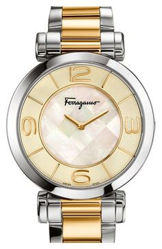 Salvatore Ferragamo 'Gancino Deco' Bracelet Watch, 39mm