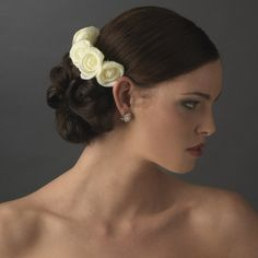 Charming Light Yellow Rose Flower Wedding Bridal Special Occasion Hair Comb *** You can find out more details at the link of the image.