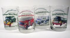 Hess's toy trucks have such a following that the company also produced collector glasses featuring some of their most popular trucks in 1996. Employee-only gift box sets of four glasses have been spotted for sale.