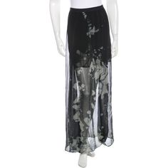 Pre-owned Raquel Allegra Silk Tie-Dye Skirt ($65) ❤ liked on Polyvore featuring skirts, black, tie dye long skirts, ankle length skirt, tie die maxi skirt, silk skirt and print maxi skirt