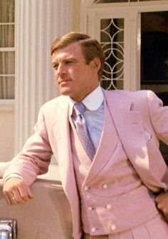 Gatsby's famous pink suit