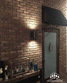 How to Install Brick Veneer on an Interior Wall Home Design Diy, Best Interior Design, Interior Decorating, House Design, Interior Walls, Interior And Exterior, Brick Interior, Interior Office, Thin Brick Veneer
