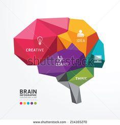 Illustration of Vector Brain Design Conceptual Polygon Style,Abstract vector Illustration vector art, clipart and stock vectors. Graphic Artwork, Graphic Design Typography, Logo Design, Free Vector Art, Free Vector Images, Brain Design, Brain Logo, Brain Art, Illustration Vector