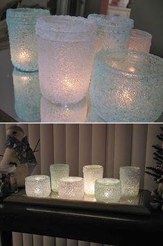 DIY Epsom Salt Luminaries