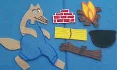 Three Little Pigs Flannel Board Felt Board Story by FunFeltStories
