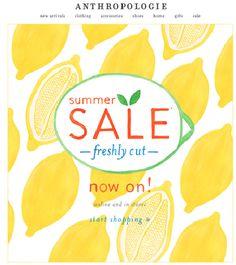 """SUB: """"Our summer Sale is here!"""" Semplice, ma d'impatto, soprattutto per merito della grafica, luminosa e originale."""