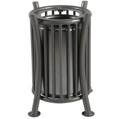 Corbeille métal Orizo 65L  Poubelle de ville originale et robuste Garbage Can, Canning, Green, Modern, Outdoor, Street Furniture, Waste Container, City, Outdoors