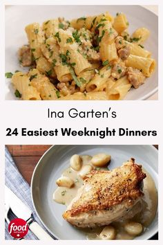 We rounded up Ina Garten's best, easy weeknight dinner ideas.