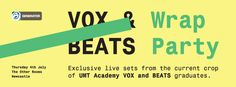 Students from our DJ, production & vocalist courses got together for one big celebratory bash at Newcastle's The Other Rooms, featuring EXCLUSIVE live performances from the current crop of UMT Academy VOX and BEATS graduates.