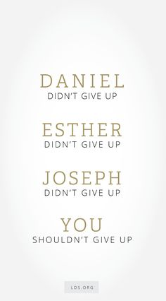 Don't give up. Seek God with all your heart. #LDS