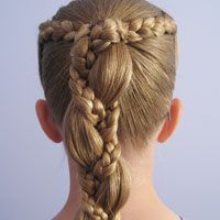 Uneven 3 Strand Braids Very pretty braids.  Now could someone please come to my house and practice on my hair?