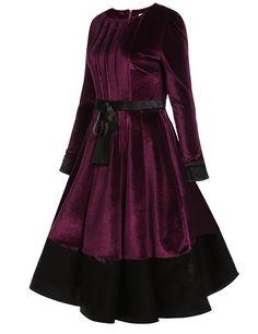ACEVOG Women Vintage Style Puff Sleeve Patchwork Bow Party Pleated Dress at Amazon Women's Clothing store:  https://www.amazon.com/gp/product/B01N7KRJYB/ref=as_li_qf_sp_asin_il_tl?ie=UTF8&tag=rockaclothsto-20&camp=1789&creative=9325&linkCode=as2&creativeASIN=B01N7KRJYB&linkId=ba0221d2d37d5abd0b0103340648b4b4