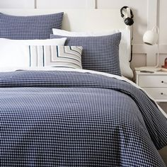 Tile Style Duvet Cover, Twin, Stone White from West Elm  For E's room?