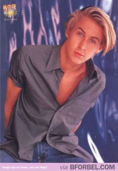 Ryan Gosling in the 90s. With backstreet boy hair. You're welcome.